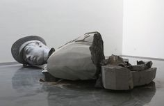"19. Zhao Zhao, ""broken officer sculpture,"" 2011 - The 50 Most Political Art Pieces of the Past 15 Years 