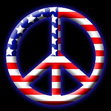 american flag peace sign | This is not my artwork. The only … | Flickr
