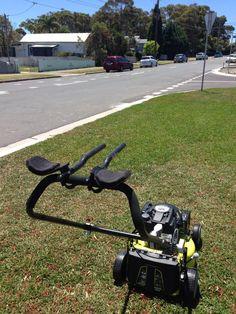 The triathlete's lawnmower