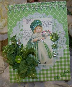 St Patrick's Day Card Handmade Vintage Style by TheNestinSLT