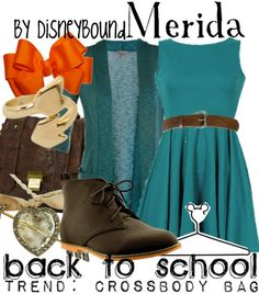 This is a cute Merida back to school. :D I want to also make a Merida disneybound outfit when I got back to school shopping. :D