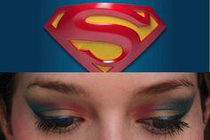 Superman Logo & Makeup Tutorial
