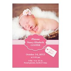 new baby photo cards