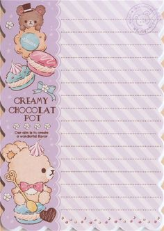 die-cut bear and treats Note Pad by Q-Lia 4
