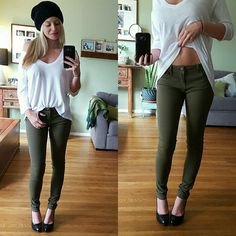 Ultra Soft Olive Green Skinnys Brand New, Tags Attached. Sizes 1 available. These are Ultra Soft and comfy. Easy to walk in, with stretch.   48% Cotton  50% Modal 2% Spandex. Price Firm. Jeans Skinny