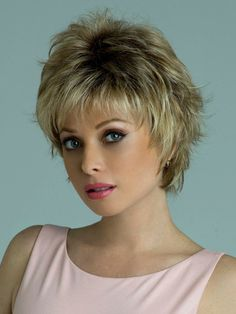 The Winter Synthetic Wig by Rene of Paris is a short sophisticated wispy layered style that is face flattering and modern. Short Shag Hairstyles, Short Layered Haircuts, Short Hairstyles For Women, Hairstyle Short, Casual Hairstyles, Hairstyles Haircuts, Wedding Hairstyles, Short Brown Hair, Short Hair With Layers