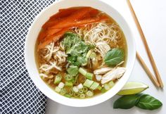 Vietnamese Pho Ga is a fragrant and flavorful dish that can be easily customized for preference! Garnish with delicious vegetables and herbs for a...
