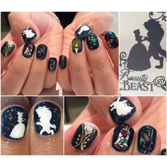 31 Beauty and the Beast Nails > CherryCherryBeauty.com