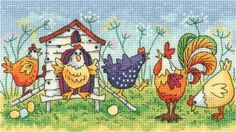 Happy Hens - Heritage Crafts cross stitch kit
