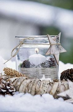 Shabby in love: Indoors and outdoors Christmas lanterns