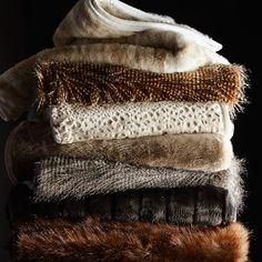 Faux Fur Blanket, Faux Fur Throw, Williams Sonoma, Fur Pillow, Throw Pillows, Accent Pillows, Fur Decor, Owl Feather, Gray Owl