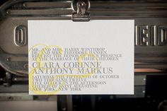 Clara Letterpress Invitation & Envelope by SparkLetterpress, $490.00