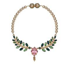 ModeWalk.com: Pink Oval Crystal Necklace by Mawi on Wanelo