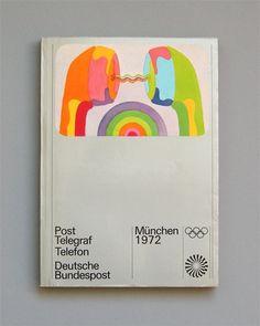 Otl Aicher 1972 Munich Olympics Brochures on Designspiration Buch Design, Design Art, Graphic Design, Retro Design, Max Bill, Creative Brochure, Brochure Design, International Typographic Style, Otl Aicher