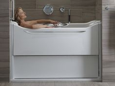 The Kohler Elevance Tub Is A A Rising Wall System That Provides An  Alternative To The Walk