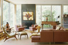 Get the Look: Mid-Century Modern Design Intermixes with Nature and Earthy Tones: http://www.deringhall.com/daily-features/contributors/dering-hall/get-the-look-mid-century-modern-design-intermixes-with-nature-and-earthy-tones