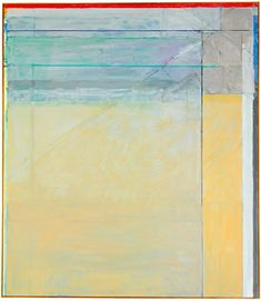 Ocean Park by Richard Diebenkorn, 1973 // From the Collection of Bunny Mellon, being auctioned at Sotheby's Famous Artwork, Richard Diebenkorn, Abstract Painting, Painting, Bay Area Figurative Movement, Online Art, Art, Abstract, Sothebys Art