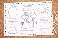 Gastgeschenke - Hochzeit Gastgeschenk für Kinder Tischset in PDF - ein Designerstück von LoveGrows bei DaWanda