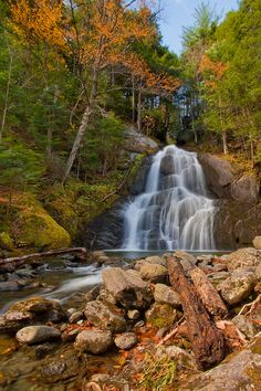 water falls in vermont | Vermont Waterfalls