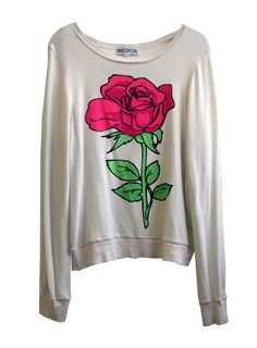 NEON ROSE - BAGGY BEACH JUMPER at Wildfox Couture in - DIRTY BLACK, - DIRTY WHITE