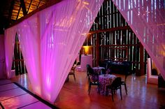 After dinner guests continued the celebration in a centennial barn that has been transformed into Studio 54. Crooked Creek Ranch. Jen Kroll Photography. A Day in May Events. Special Events Rental.