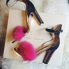Fluffy, metallic and pink what's not to love about these Sophia Webster heels. See more of our party edits at Redonline.co.uk