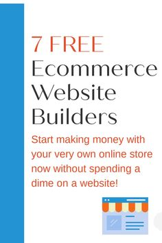 Do you want to build an online store, but don't want to spend much (or any) money)? You can get started with these 7 free ecommerce website builders for free! E Commerce Business, Business Tips, Online Business, News Blog, Blog Tips, Website Builders, Free Ecommerce, Best Blogs, Blogging For Beginners