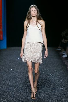 A look from the Mary Katrantzou Spring 2015 RTW collection.