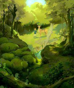 Ashitaka's journey by ~ChencoIlufi on deviantART