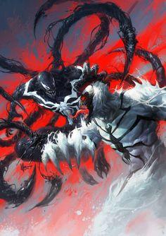 Anti-Venom vs Venom - by Isuardi Therianto | #comics #marvel #venom