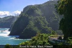 Hana Highway, Maui is just one of the scenic drives listed in this article from Travel + Leisure. It's 52 miles of lush rainforest, ocean vistas and plenty of curves. Be sure to add Hana Highway to your Maui travel plans. Hawaii Vacation, Maui Hawaii, Dream Vacations, Vacation Spots, Hawaii Tours, Hawaii Usa, Visit Hawaii, Hawaii Honeymoon, Honeymoon Destinations