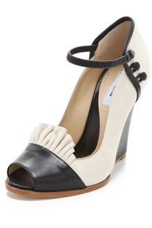 Moschino Suede Open Toe Pumps in Black (ivory) - Lyst