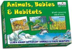 Creative Educational Pre-School Animal Babies and Habitats
