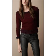 Burberry Textured Wool Cashmere Sweater ($350) via Polyvore
