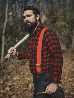 Lumberjacks are commonly used to represent strength, man's dominance over nature, and the idea that axes are pretty cool. In fiction they tend to be Badass, often to the point of Testosterone Poisoning. Either that, or to sell paper towels.