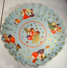 Vintage Christmas Cardboard  Bowl Made in Germany by VintageTinsel, $6.00