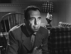 """In A Lonely Place (1950) Humphrey Bogart, Gloria Grahame, Frank Lovejoy - Director: Nicholas Ray - A screenwriter becomes the prime suspect in a murder.  His neighbor provides him with an alibi, then begins to have doubts about his innocence.  Dixon Steele: """"I was born when she kissed me. I died when she left me. I lived a few weeks while she loved me."""""""
