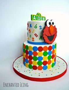 Elmo Cake Big Logo