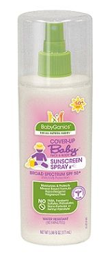 BabyGanics Cover-Up Baby Face  Body Sunscreen Spray
