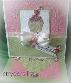 6X6 Easel card made with CTMH (close to my Heart) stamps, paper, ribbon and ink and also the Art Philospphy Cricut Cart.