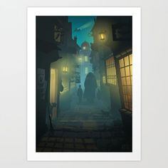 Buy Diagon Alley Art Print by apemeetsgirl. Worldwide shipping available at Society6.com. Just one of millions of high quality products available.
