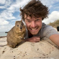 Allan Dixon from Ireland, 29, has earned himself the title of a 'real-life Dr. Dolittle' because of his ability to 'talk' animals into posing for a selfie with him. The results are amazing. He seems to befriend any animal he meets!