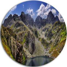 "DesignArt 'Tatra Mountains Panorama' Photographic Print on Metal Size: 11"" H x 11"" W x 1"" D"