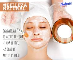 Hidrata tu rostro con una mascarilla de Aceite de Coco con Miel y disfruta de sus beneficios. #BellezaNatural #Mascarilla #Belleza