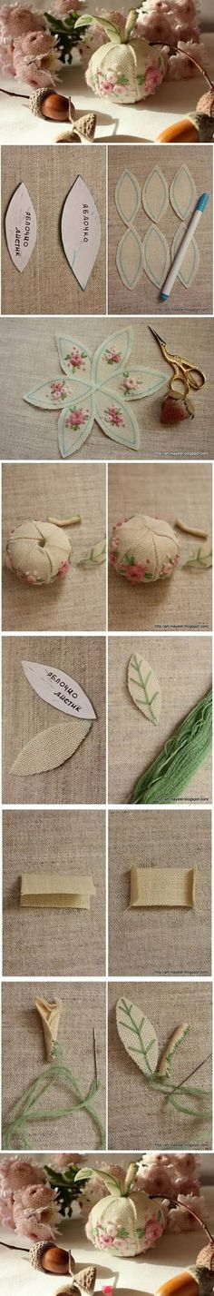 Pin Cushion with embroidery