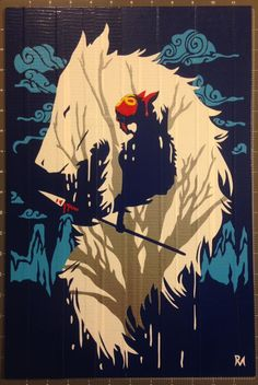 Princess Mononoke Duct Tape Art by DuctTapeDesigns.deviantart.com on @DeviantArt