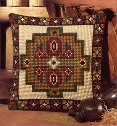 ponto cruz grafico para almofada 1 Crochet Cushions, Crochet Pillow, Tapestry Crochet, Modern Cross Stitch, Cross Stitch Designs, Cross Stitch Patterns, Needlepoint Pillows, Needlepoint Patterns, Hand Embroidery Stitches