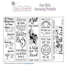 Bless It Forward Ministries - Free Printables Bible Journaling For Beginners, Bible Study Journal, Book Journal, Art Journaling, Journals, Bullet Journal, Faith Quotes, Bible Quotes, Printable Bible Verses
