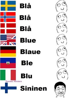 Finnish language differences compared to other languages. Funny Facts, Funny Memes, Jokes, Finnish Memes, Meanwhile In Finland, Learn Finnish, Finnish Words, Finnish Language, Memes In Real Life