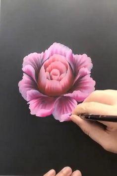 Acrylic Painting Flowers, Acrylic Art, Flower Paintings On Canvas, One Stroke Painting, Paintings Of Flowers, 3d Painting On Canvas, Painting Flowers Tutorial, Mask Painting, Flower Canvas